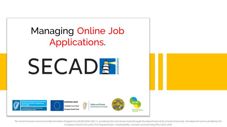 Managing online job applications